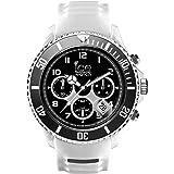 Ice-Watch - ICE sporty White Black - Montre blanche pour homme avec bracelet en silicone - Chrono - 001336 (Extra Large)