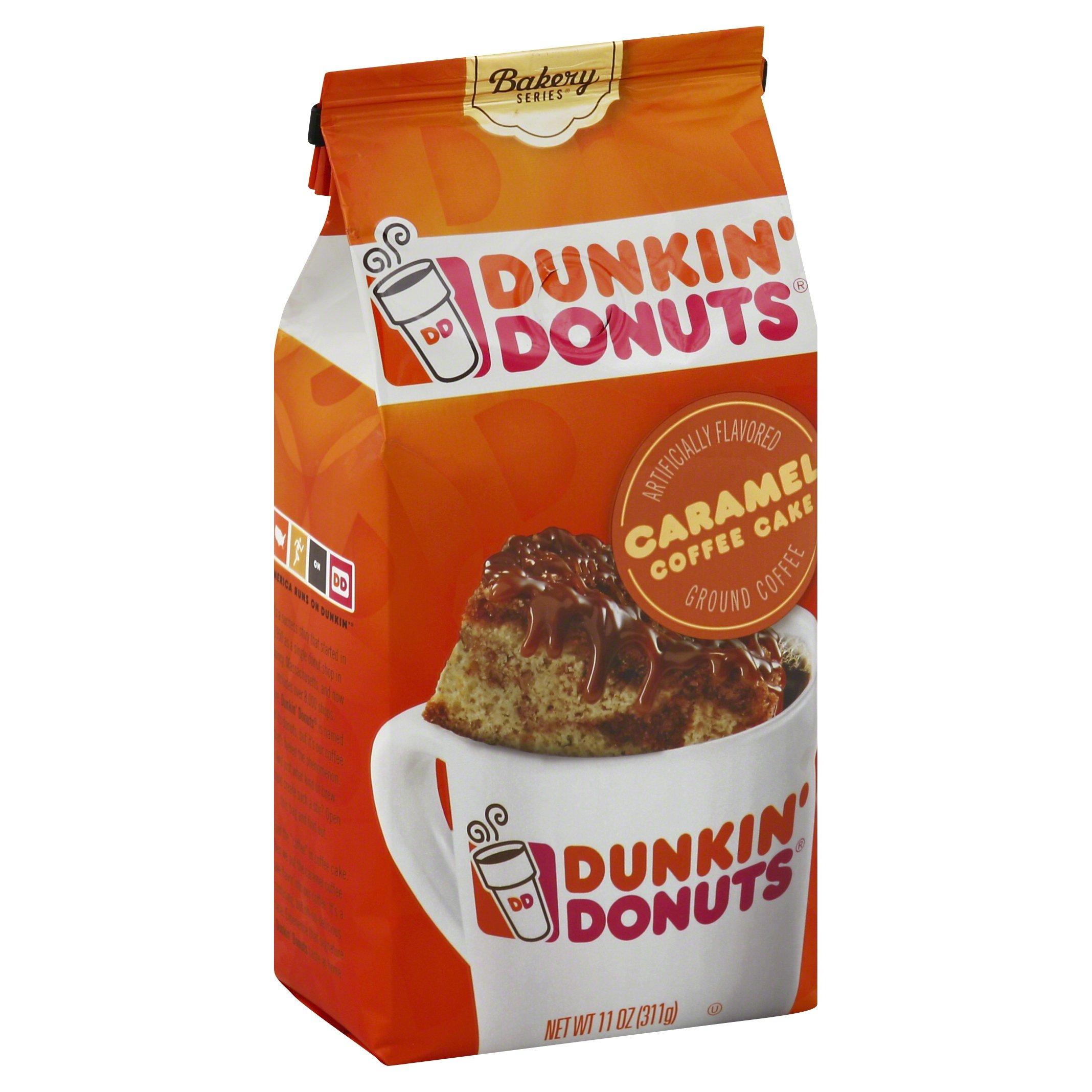 Dunkin' Donuts Bakery Series Ground Coffee, Caramel Coffee Cake, 11 oz