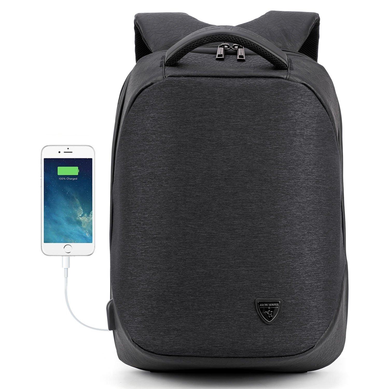 AH ARCTIC HUNTER 15.6 Inch Laptop Backpack for Men College Students Business Travel Rucksack Daypack Book Bag (Black2)