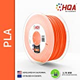 HQA PLA+ 3D Printer Filament, Orange, 1.75MM, 1KG Spool, [100% USA NatureWorks 4043D]