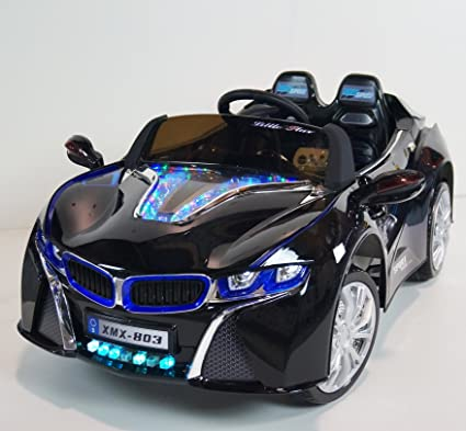 Amazon Com Ride On Car Bmw I8 Black Xmx803 Toys Games