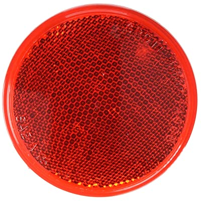 Grote 40052-5 Red Round Stick-On Reflector: Automotive [5Bkhe0410556]
