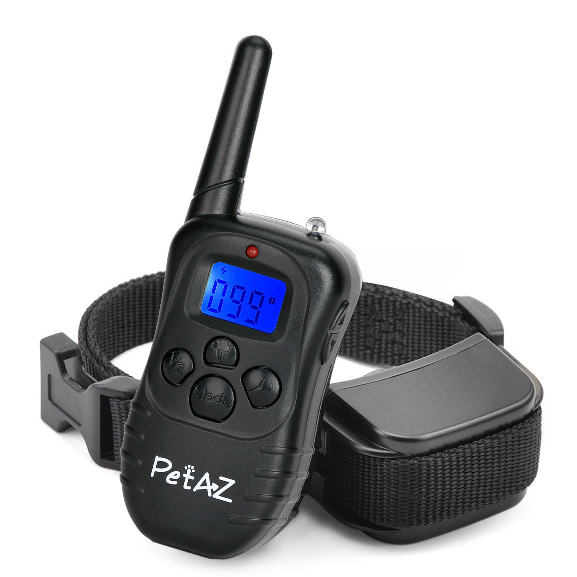 PetAZ Dog Training Collar Electric Dog Shock Collars 330 yards rang Remote, Rechargeable and Rainproof Beep/Vibration/Shock For Small,Medium,Large Dogs (10-120lbs) (for 1 dog)