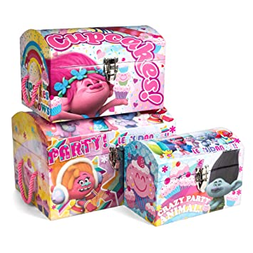 Exceptionnel Tri Coastal Design DreamWorks Trolls Dome 3 Different Sizes Storage Chest  Trunks Bin Box Organizer (