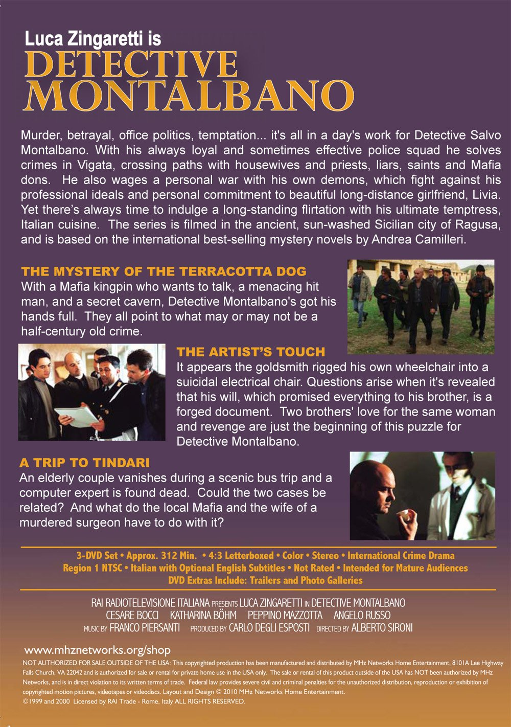 Detective Montalbano: Episodes 4-6 by MHZ NETWORKS