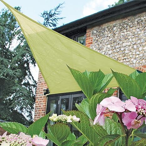 Amazon.com : Easy Gardener Sun Sail Triangle Sun Shade (5 Year Sun ...