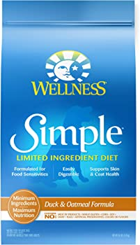 Wellness Simple Natural Dry Limited Ingredient Dog Food, Duck & Oatmeal, 26-Pound Bag