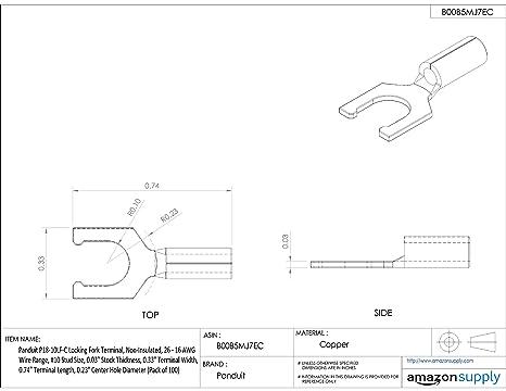 Amazon Com Panduit P14 10lf C Locking Fork Terminal Non Insulated