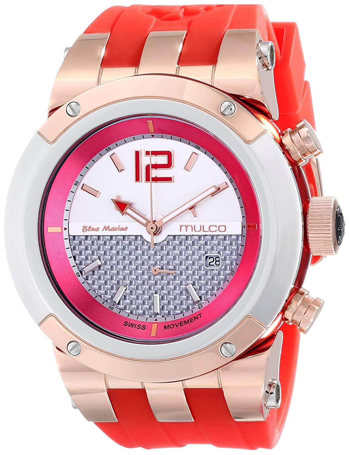 MULCO Unisex MW5-1621-061 Analog Display Swiss Quartz Red Armbanduhr