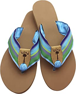 product image for Eliza B. Bahamian Blue Ribbon Sandal with Almond Sole