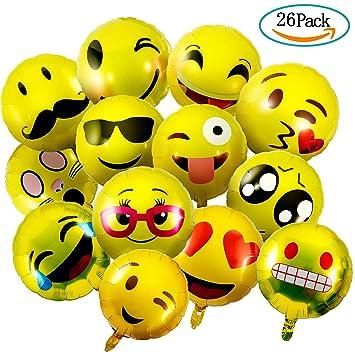 Czemo Emoji Ballons 26 Stuck Party Luftballons Helium