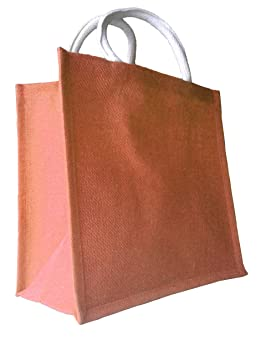Bolsas de yute natural con asas acolchadas de lujo, mezcla ...