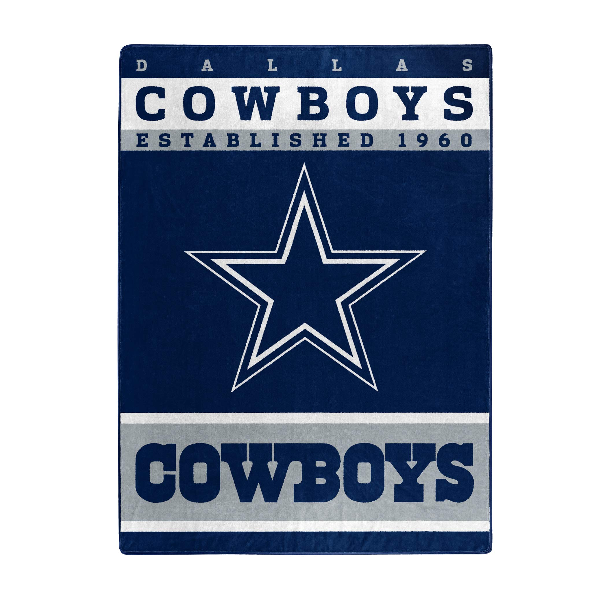 The Northwest Company Officially Licensed NFL Dallas Cowboys 12th Man Plush Raschel Throw Blanket, 60'' x 80''