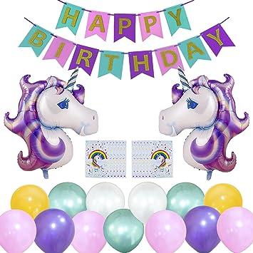 Wonderforu Einhorn Geburtstag Party Dekoration Happy Birthday