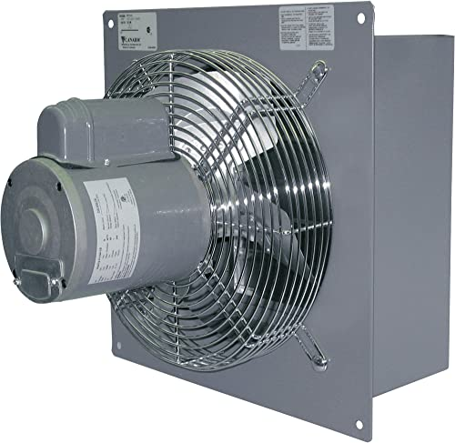 Canarm Wall Exhaust Fan – 18in. Single Speed, 1 3 HP, 3200 CFM, Model Number S18-F1