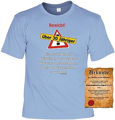 Zum 30geburtstag Lustiges Geburtstags T Shirt Vorsicht über 30