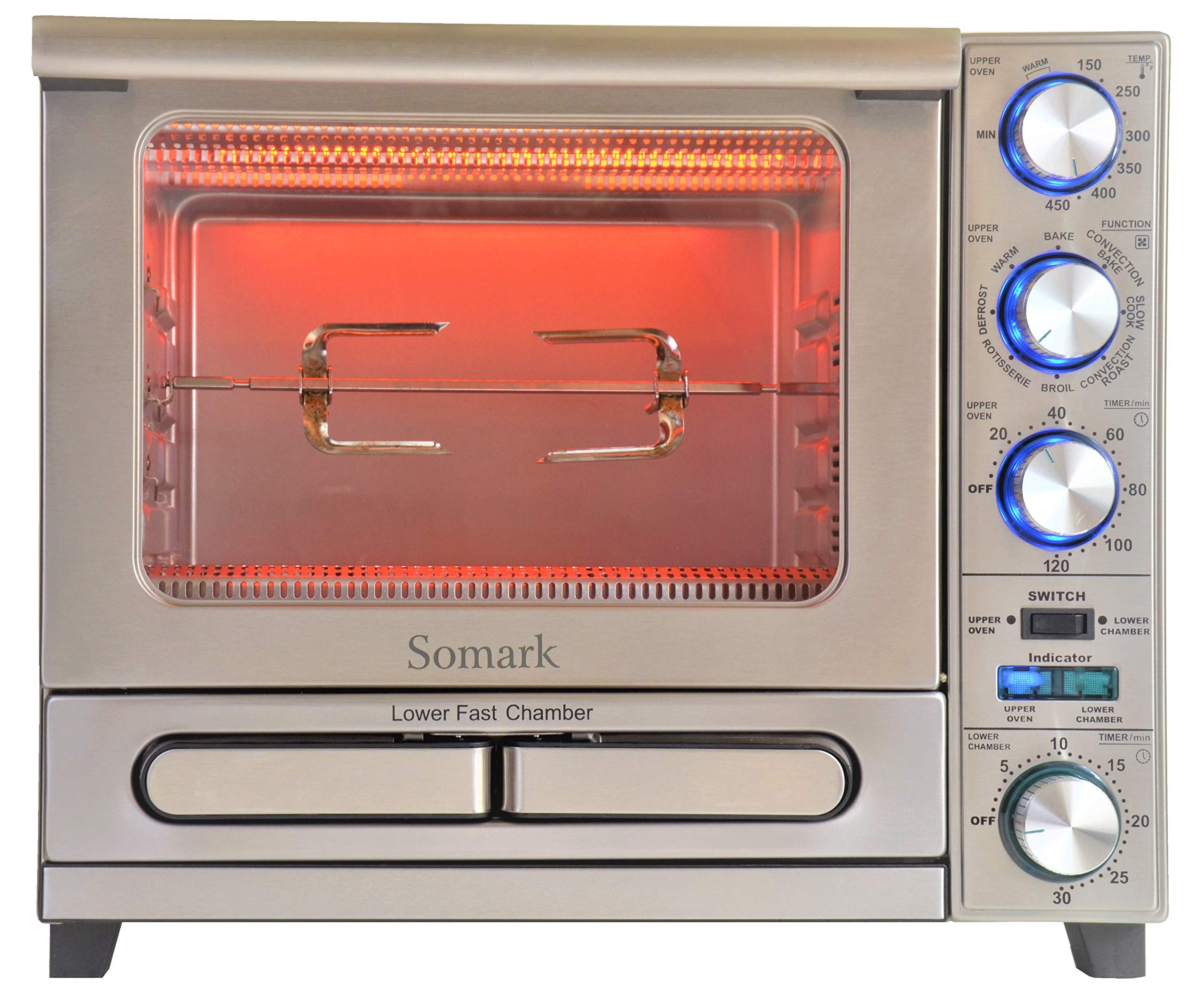 Somark Convection Rotisserie Oven with Multiple Fast Pizza/Cake Chamber 1500W by Somark