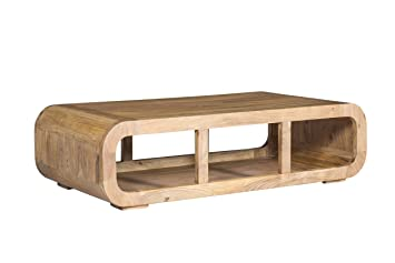 Woodkings Couchtisch Springston 115x60cm Holz Akazie Natural Echtholz Modern Design Massivholz Exclusiv Lounge Coffee Table Tv Bank Tv
