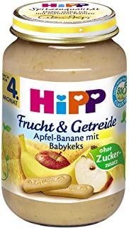 Hipp manzana de plátano con babykeks, 6 unidades) (6 x 190 g)