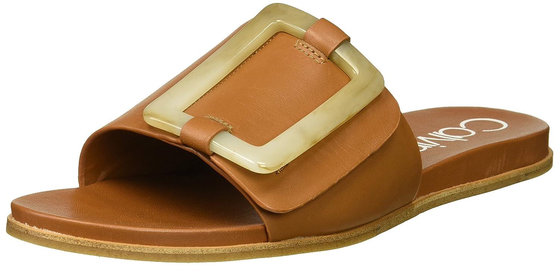 Calvin Klein Women's Patreece Slide Sandal B07864XYJ5 8 B(M) US|Cognac