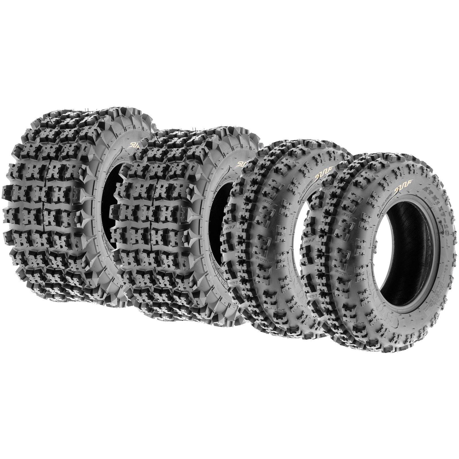 Set of 4 SunF A027 ATV Tire 22x7-10 Front & 22x10-9 Rear