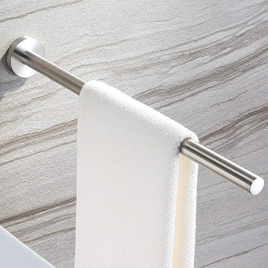 Dailyart acero inoxidable doble toalla barras de ba/ño toallero montado en la pared sin taladrar 70 x 13 x 5,3 cm Toalleros