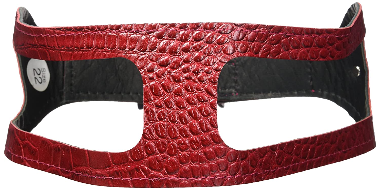 Croco Red 22\ Croco Red 22\ ChokeFree Pet Shoulder Collar, 22 , Croco Red
