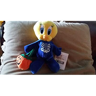 Tweety Halloween Jack-O-Lantern Pumpkin - Warner Bros Bean Bag Plush: Toys & Games