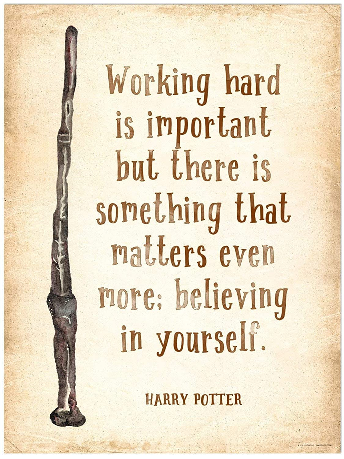 home garden harry potter famous quote wall art print vintage