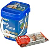 DAS Air Hardening Modeling Clay, Re-Sealable Tub, Set of 4 Clay Blocks, 1.1 Pounds Each, White (00384)