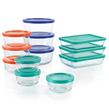 Pyrex Simply Store Glass Storage Starter Set (24-Piece, BPA-Free)