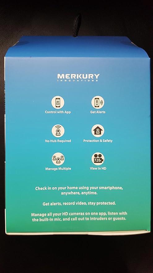 Amazon.com: Merkury Innovations HD Pivot 720 Adjustable Wi-Fi Security Camera: Home Improvement