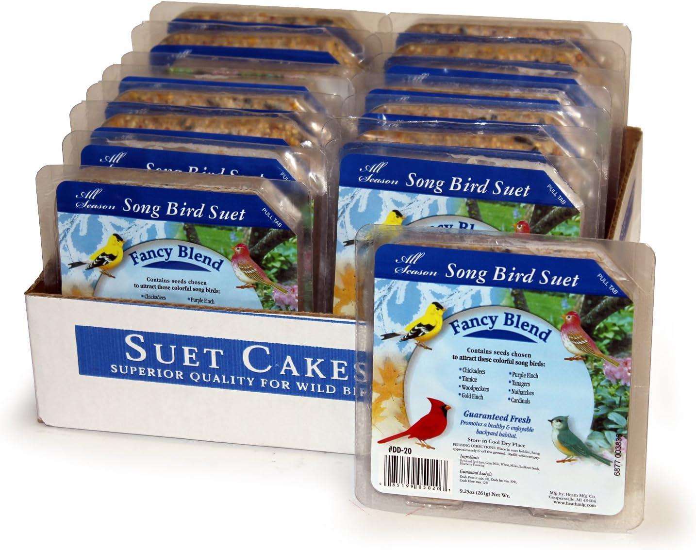Heath Outdoor Products DD-20 Fancy Suet Cake, Case Of 16,Fancy Blend