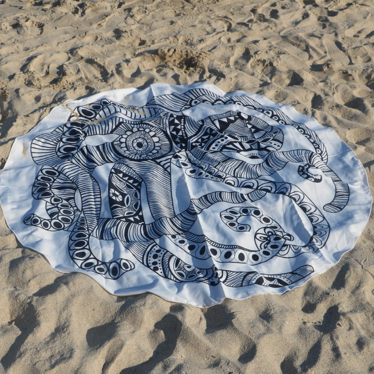 Verano Indio Mandala Redondo Toalla De Playa Hippie Letra Grande Flor Bata Acrílico Diámetro De 150 Cm 1 Patrones Diferentes,1: Amazon.es: Hogar