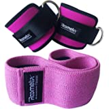 Roometix Ankle Straps for Cable Machine with Hip Circle Resistance Band - Glute Workout Activation Bands for Women - Non-Slip Design for CrossFit and Booty Building