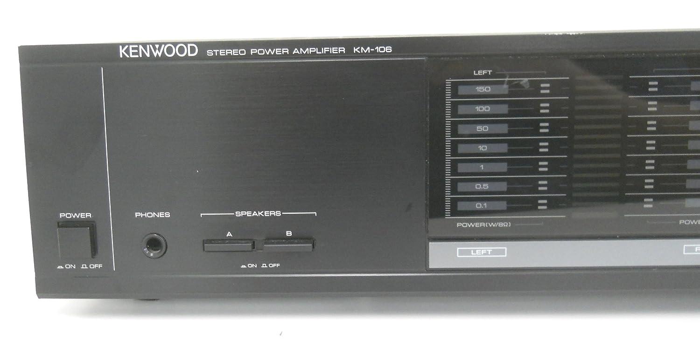 Kenwood KM-106 Stereo Power Amplifier with Meter Range