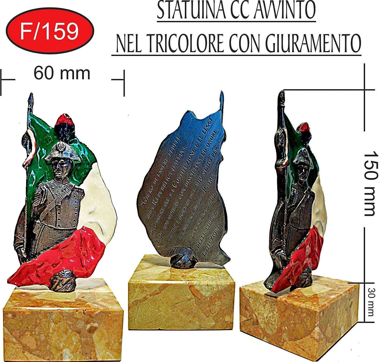 STATUA CARABINIERE CARABINIERI TROFEO TRICOLORE GIURAMENTO h 18 cm