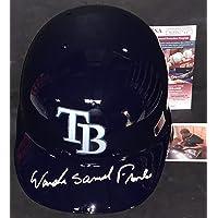 $199 » Wander Franco Tampa Bay Rays Beckett Witness COA Autographed Signed Full Size Helmet FULL NAME