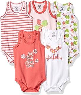 ce5ebdc6c Amazon.com  Hudson Baby Sleeveless Bodysuits Boy 5-Pack  Clothing