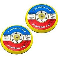 "Elitexion 5"" Professional Dual Action Random Orbital Sanding Pad with Velcro Face Hook, 5/16"" x 24 Thread – Pack of 2"