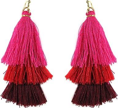Evening tassle earrings Ombre fringe earrings Lilac macrame earrings Long purple tassel earrings