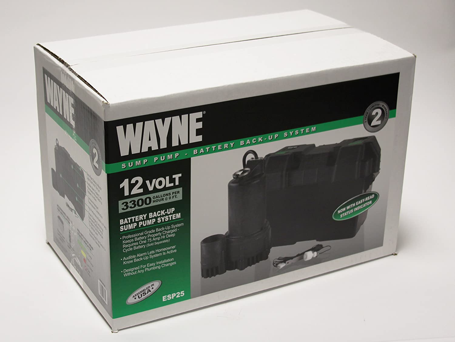 Best sump pump backup system - Wayne Esp25 12 Volt Battery Back Up Sump Pump System With Audible Alarm Sump Pump Battery Backup Amazon Com