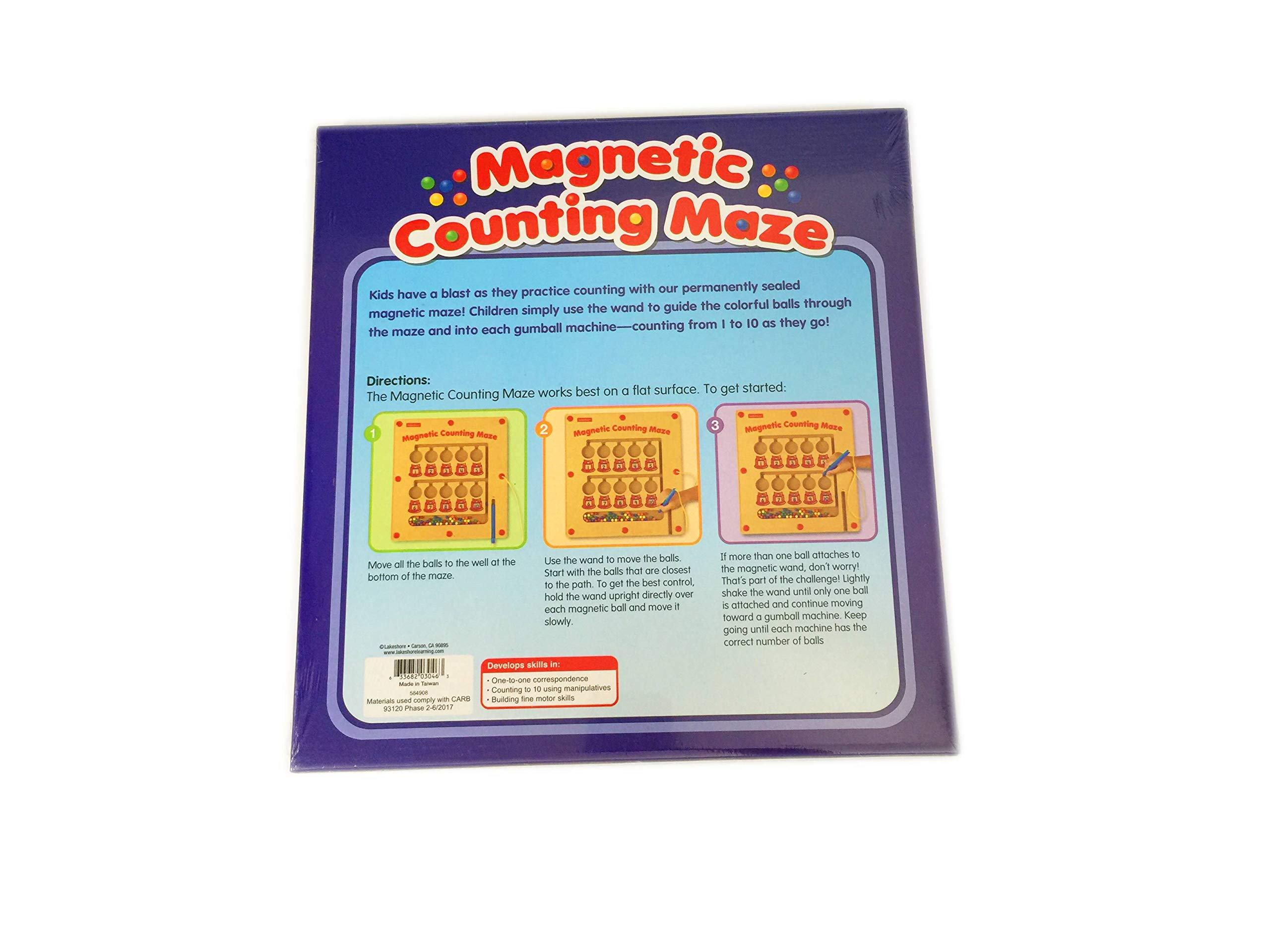 Lakeshore  Magnetic Counting Maze 3 yrs. - 5 yrs. / Preschool - Kindergarten Measures 13 x 14 Inches by  Lakeshore