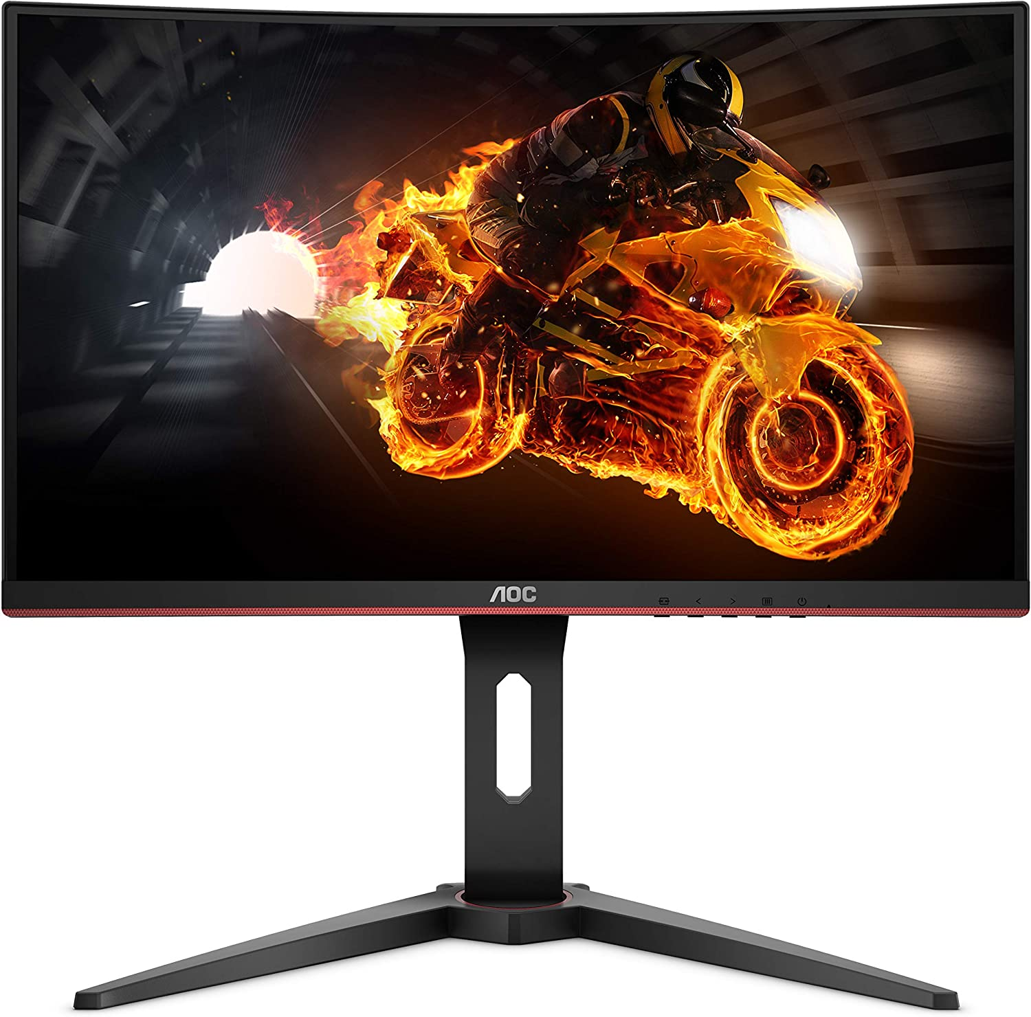 "AOC C8G8 8"" Curved VA LED FHD (8980x8080) FreeSync 844Hz Height  Adjustable Gaming Monitor. (VGA, HDMI X 8, Displayport) - Black"