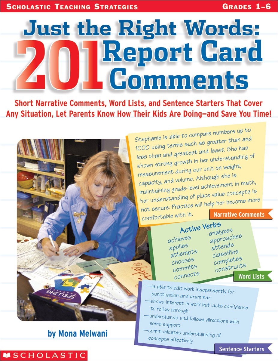 Download Just The Right Words: 201 Report Card Comments PDF