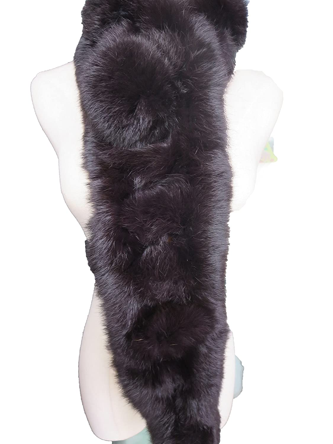 Womens Real Whole Rabbit Fur Scarf Winter Warm Wearing Convenient Multiple Colors