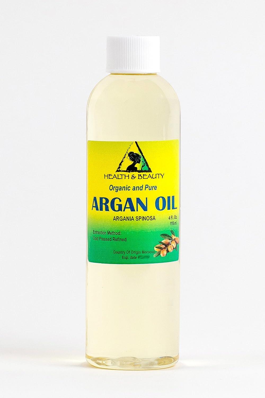 Argan Oil Moroccan Marrakesh Organic Carrier Cold Pressed Pure Hair Oil 4 oz, 118 ml H&B OILS CENTER Co.