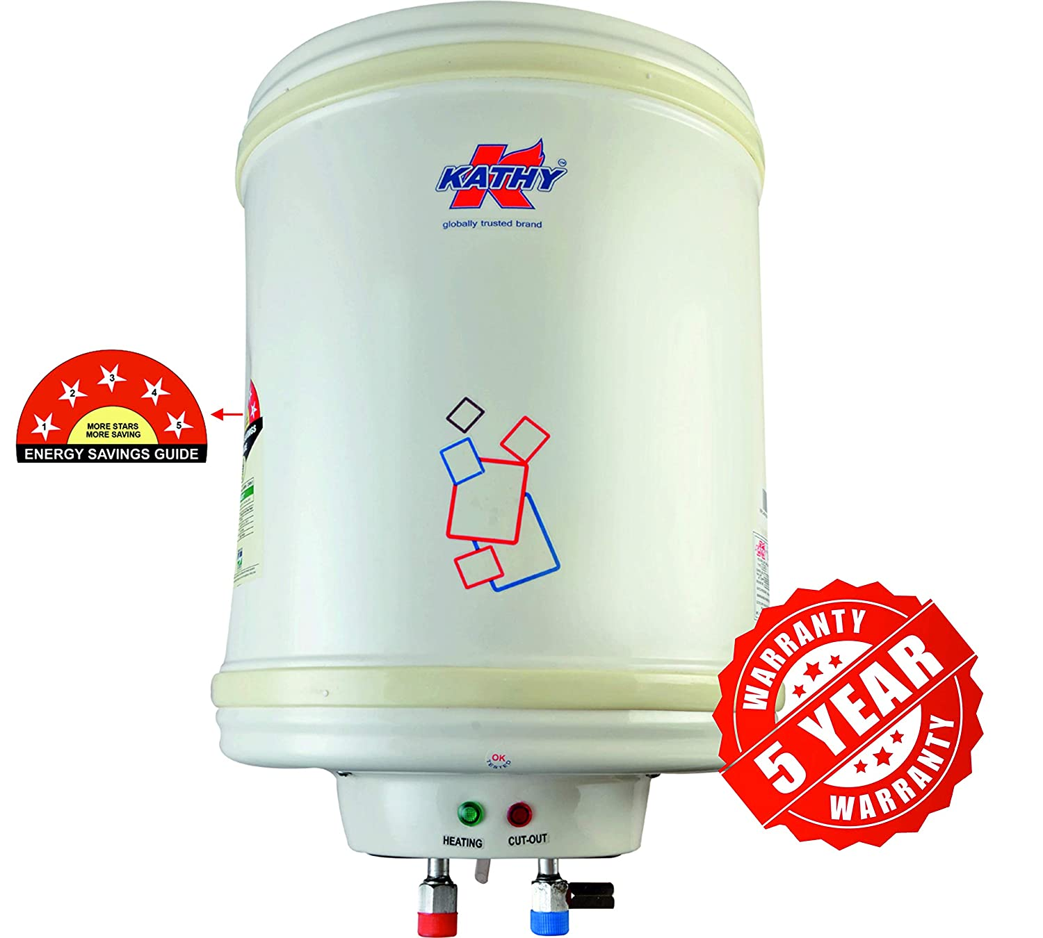 Kathy Metal 25 Litre Stainless Steel Electric Water Heater 5 Star Mark