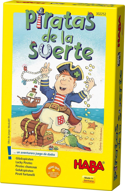 Haba - Piratas de la Suerte - ESP (302252): Amazon.es: Juguetes y juegos