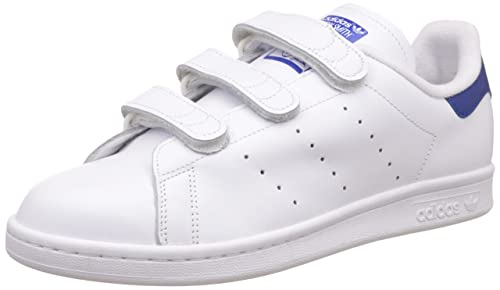 pretty nice 768fb c9a3d adidas Originals Men s Stan Smith Cf Ftwwht, Ftwwht and Croyal Leather  Sneakers - 8 UK